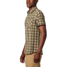 Columbia Triple Canyon T shirt Homme, fossil mini tonal plaid